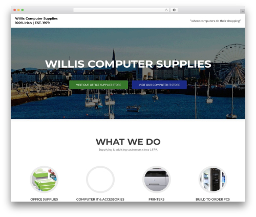 WP theme Zerif PRO - willis-supplies.ie
