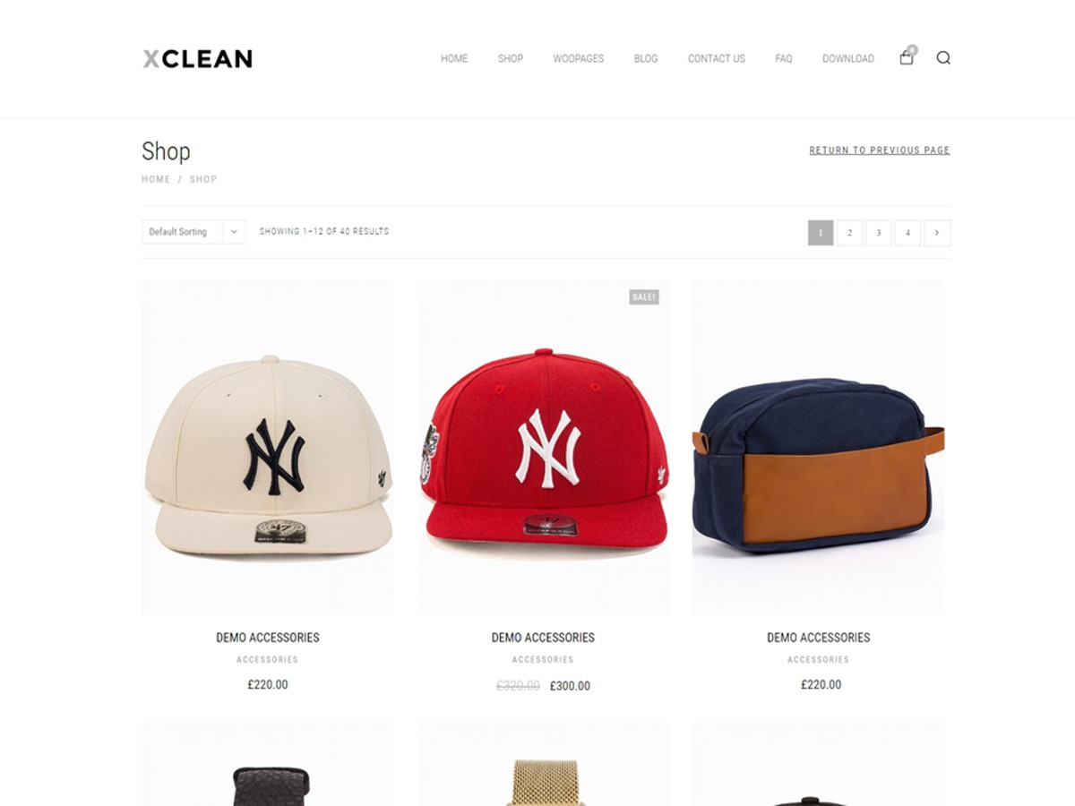 XClean WordPress ecommerce template