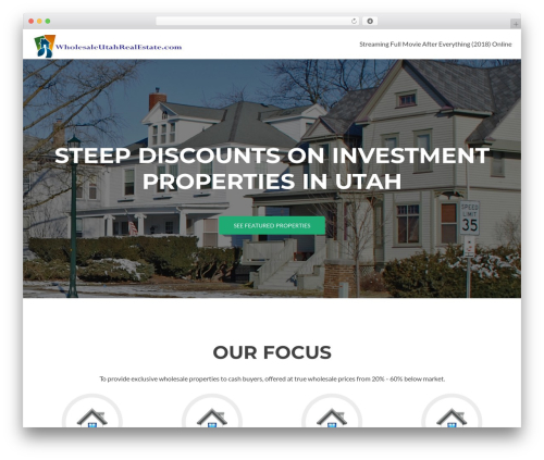 Zerif Lite real estate template WordPress - wholesaleutahrealestate.com