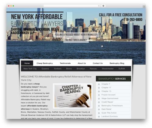 Affordable Bankruptcy premium WordPress theme - affordablebankruptcyrelief.com