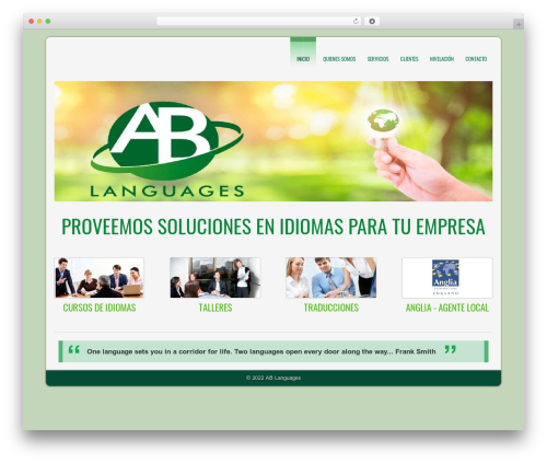 D5 CORPORATE LITE WordPress template free - ablanguages.com.ar