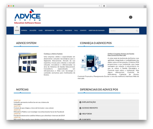 Delicate WordPress page template - advicesystem.com.br