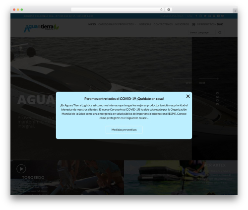 Flatsome WordPress template - aguaytierra.com