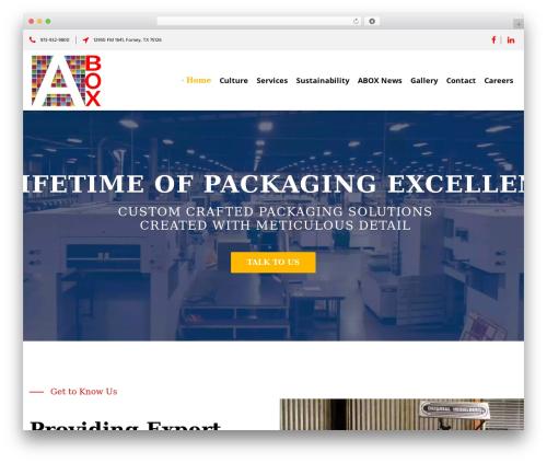 NOO Pearle WordPress theme - aboxpackaging.com