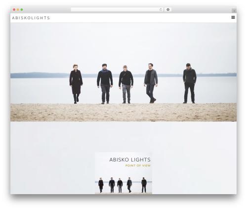 Pixova WordPress template - abiskolights.com