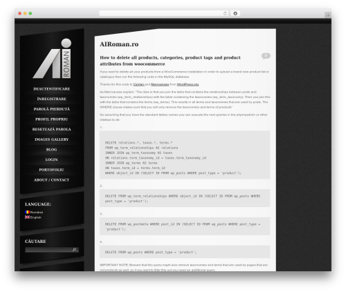 Slash WP WordPress blog theme - airoman.ro