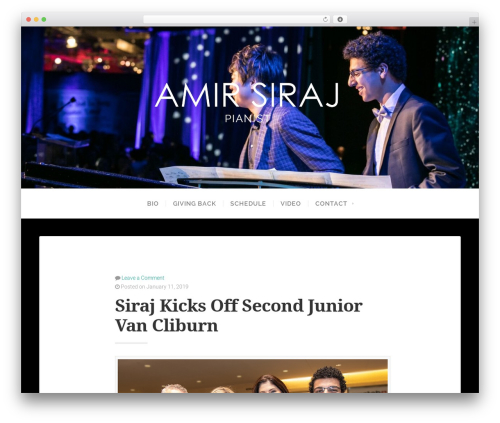 Swell Lite template WordPress free - amirsiraj.com