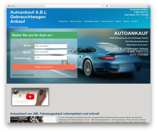 THBusiness best WordPress theme - abl-fahrzeugankauf.de