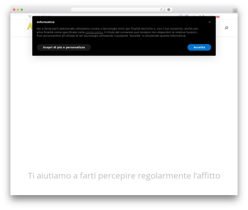Free WordPress WP Cookie Banner plugin - affittoassicurato.com