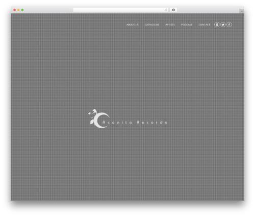 Theme WordPress Revelance (shared on wplocker.com) - aconitorecords.co.uk