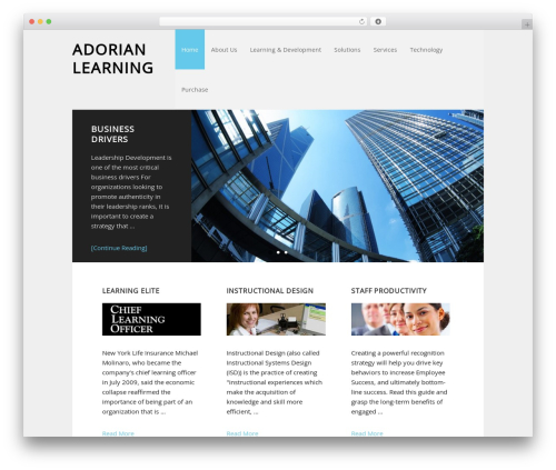 WordPress theme Executive Child Theme - adorianlearning.com