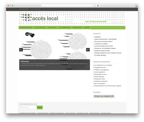 WordPress theme Project AR2 - acces-local.com/wordpress