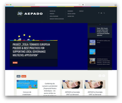WordPress website template Biosphere - aepado.ro