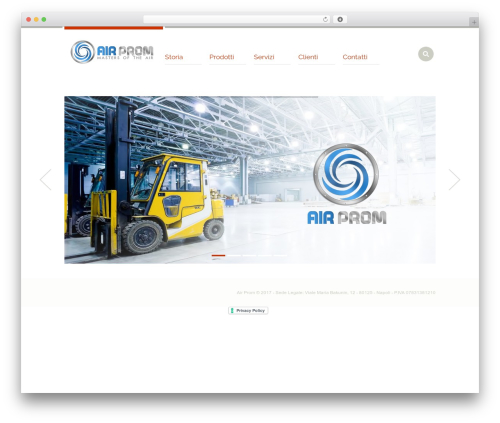 WP theme Industrial - air-prom.it