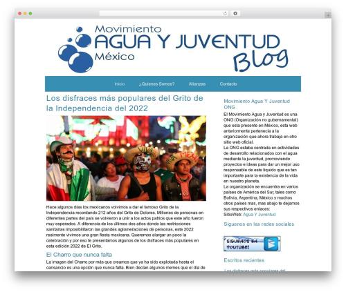 WP theme ZenWater - aguayjuventud.mx