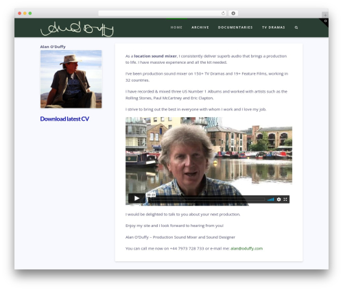 WordPress x-email-mailchimp plugin - alanoduffy.com