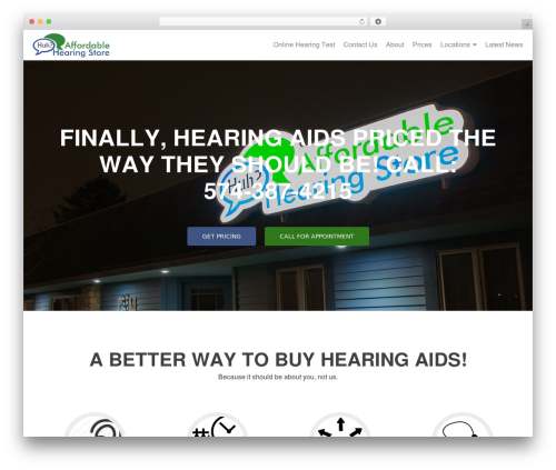 Zerif PRO best WordPress theme - affordablehearingstore.com