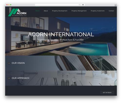 Avada WordPress theme - acorninternationalltd.com