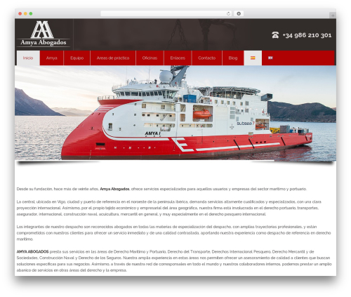 Best WordPress theme Attorney - amyavigo.es/es/home/inicio