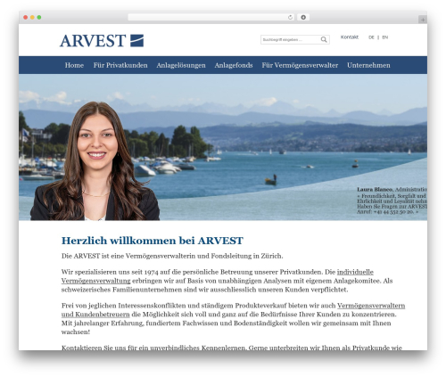 Guru theme WordPress portfolio - arvest.ch