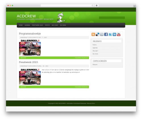 Helios best WordPress template - acdcrew.nl