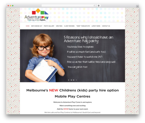 Kidslife theme WordPress - adventureplay.com.au