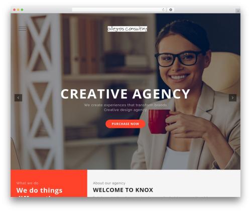 Knox theme WordPress - allegros.ca