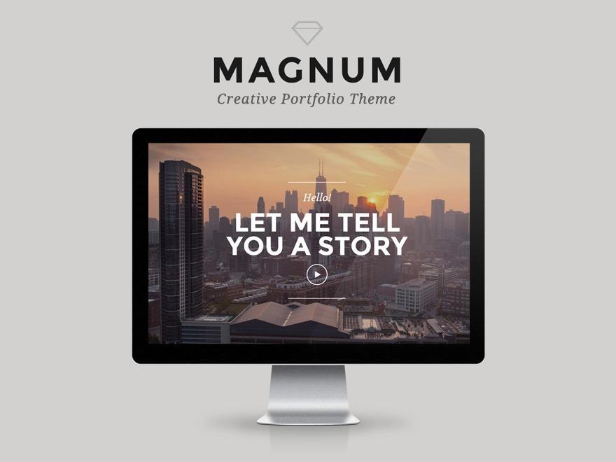 Magnum (shared on wplocker.com) best portfolio WordPress theme