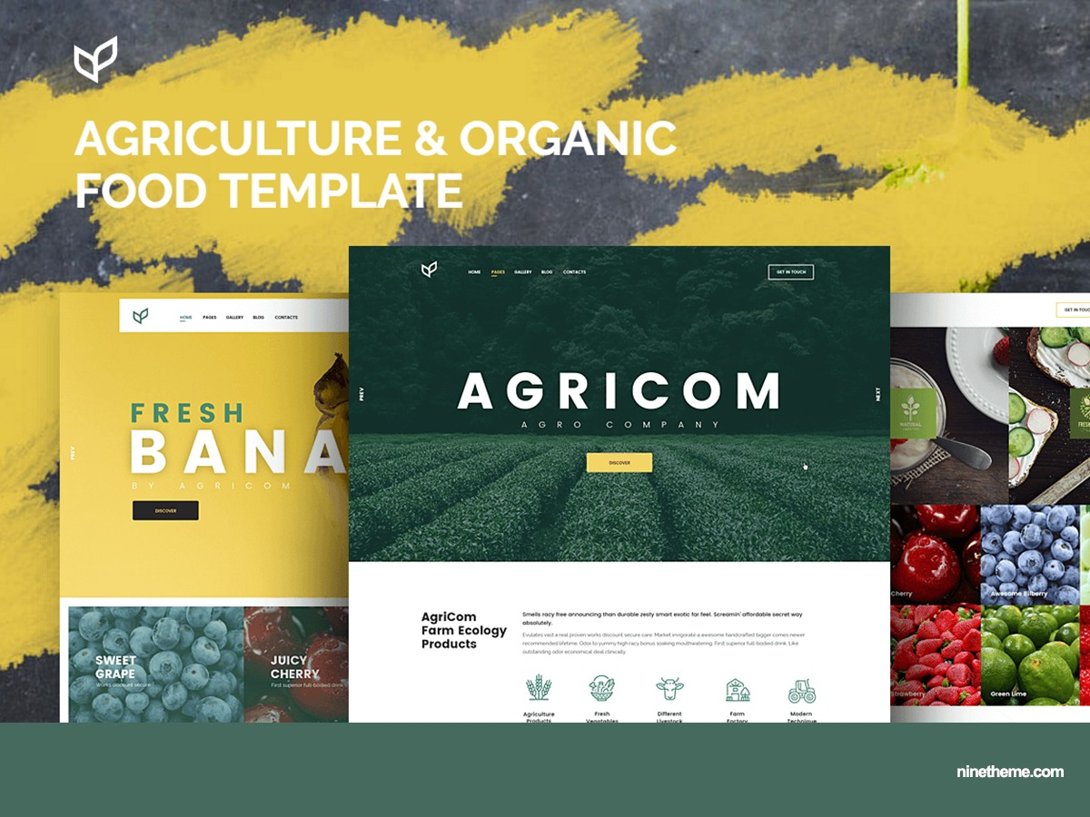NT Agricom WordPress page template