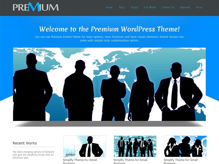 Premium Press company WordPress theme