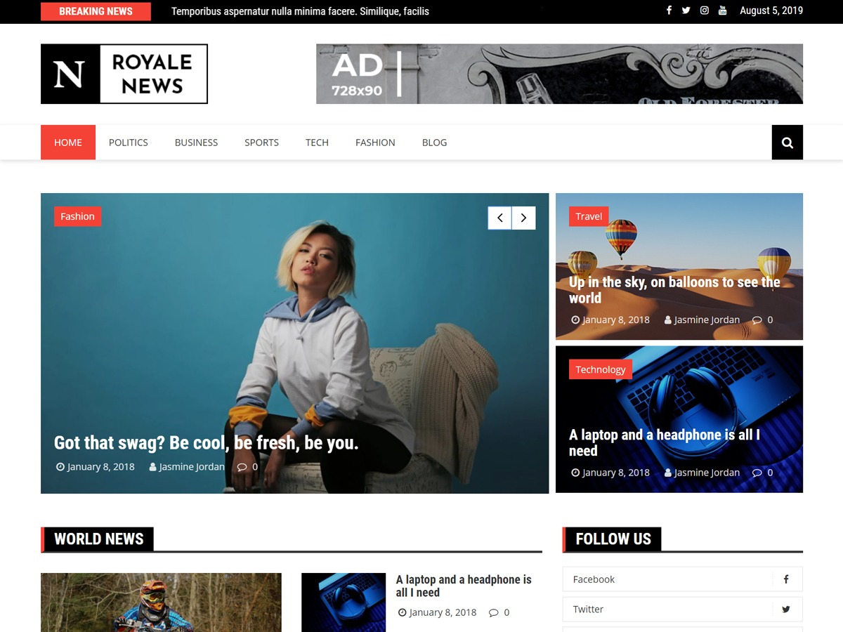 Royale News WordPress news template