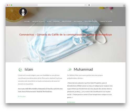 WordPress website template Eco Press - ahmadiyya.mu/home