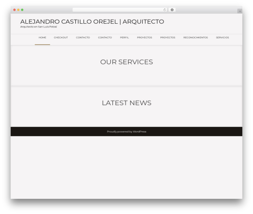WordPress website template Showcase Lite - alejandrocastilloorejel.com