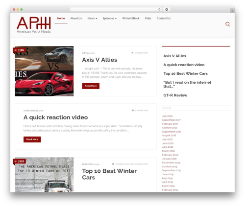 Free WordPress Podlove Web Player plugin - americanpetrolheads.com