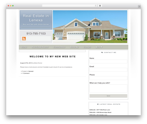 Concise real estate template WordPress - aliciasellskchomes.com