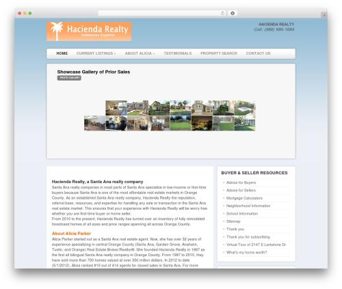 Delegate real estate WordPress theme - aliciashomes.com