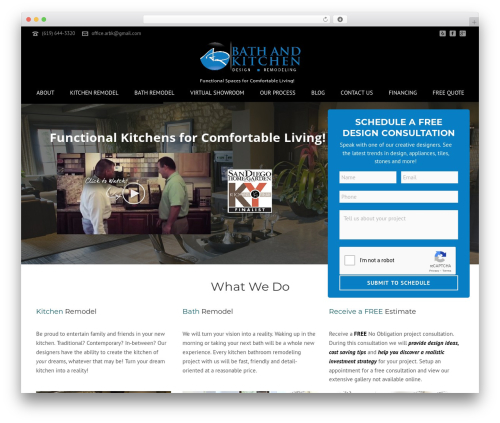 Jupiter best WordPress template - arbathandkitchen.com