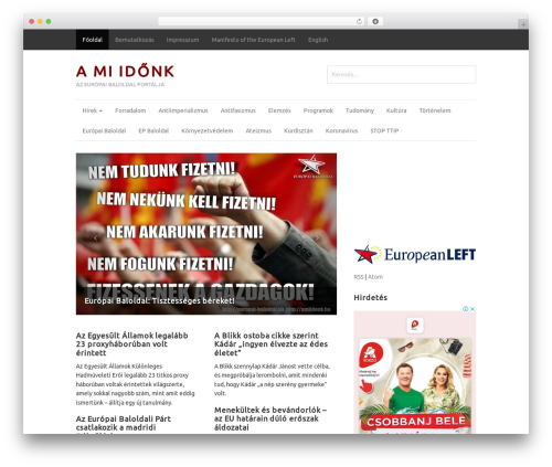 Magazine theme WordPress - amiidonk.hu