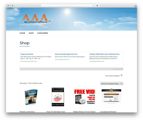 Socrates v5 top WordPress theme - alex-about-anything.com