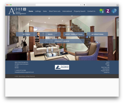 SpotFinder WordPress page template - alphaestatemanagement.co.uk
