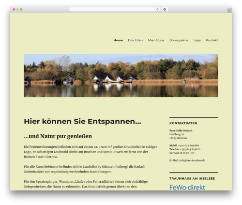 Twenty Sixteen WordPress theme - am-inselsee.de