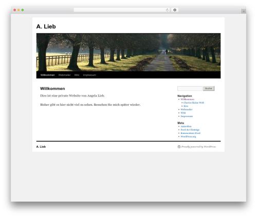 Twenty Ten WordPress theme - alieb.de