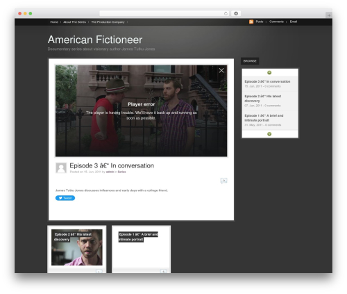 WooTube WordPress template - americanfictioneer.com