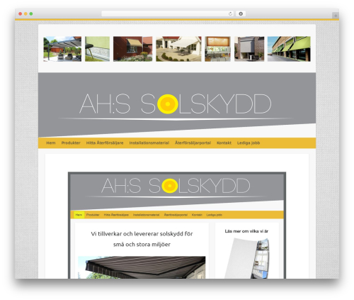 WordPress theme Travelify - ahssolskydd.se