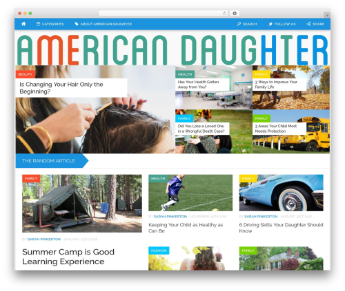 WP theme Codilight - americandaughter.com