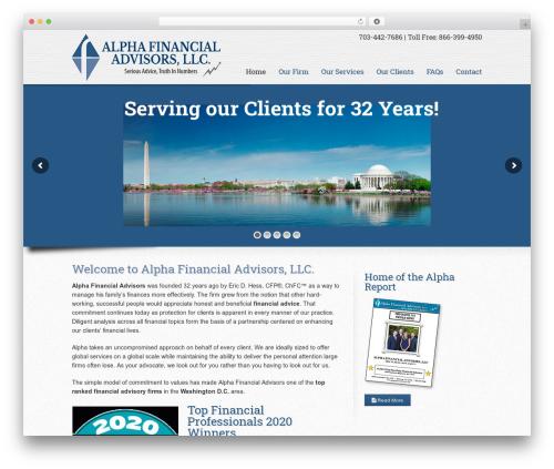 WP theme Striking MultiFlex & Ecommerce Responsive WordPress Theme - alphafinancialadvisors.com