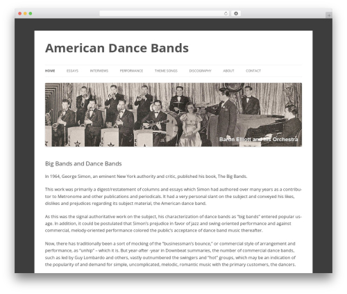 2012 Child Theme WordPress theme - americandancebands.com
