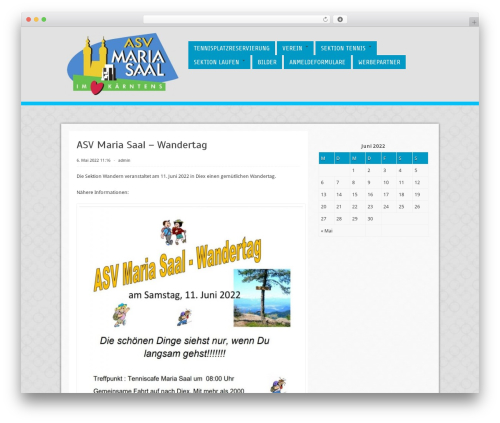 Cell WordPress theme - asv-maria-saal.at/wordpress