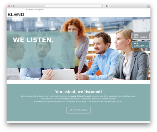 DP Blend WordPress template for business - acumentalentsearch.com