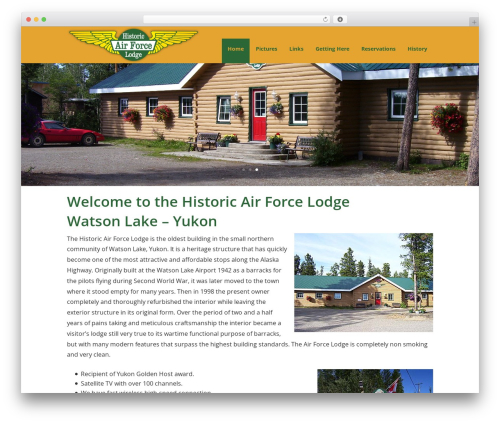 Historic Air Force Lodge best WordPress theme - airforcelodge.com